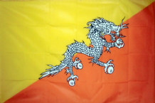 BHUTAN - HAND WAVING FLAG (MEDIUM)
